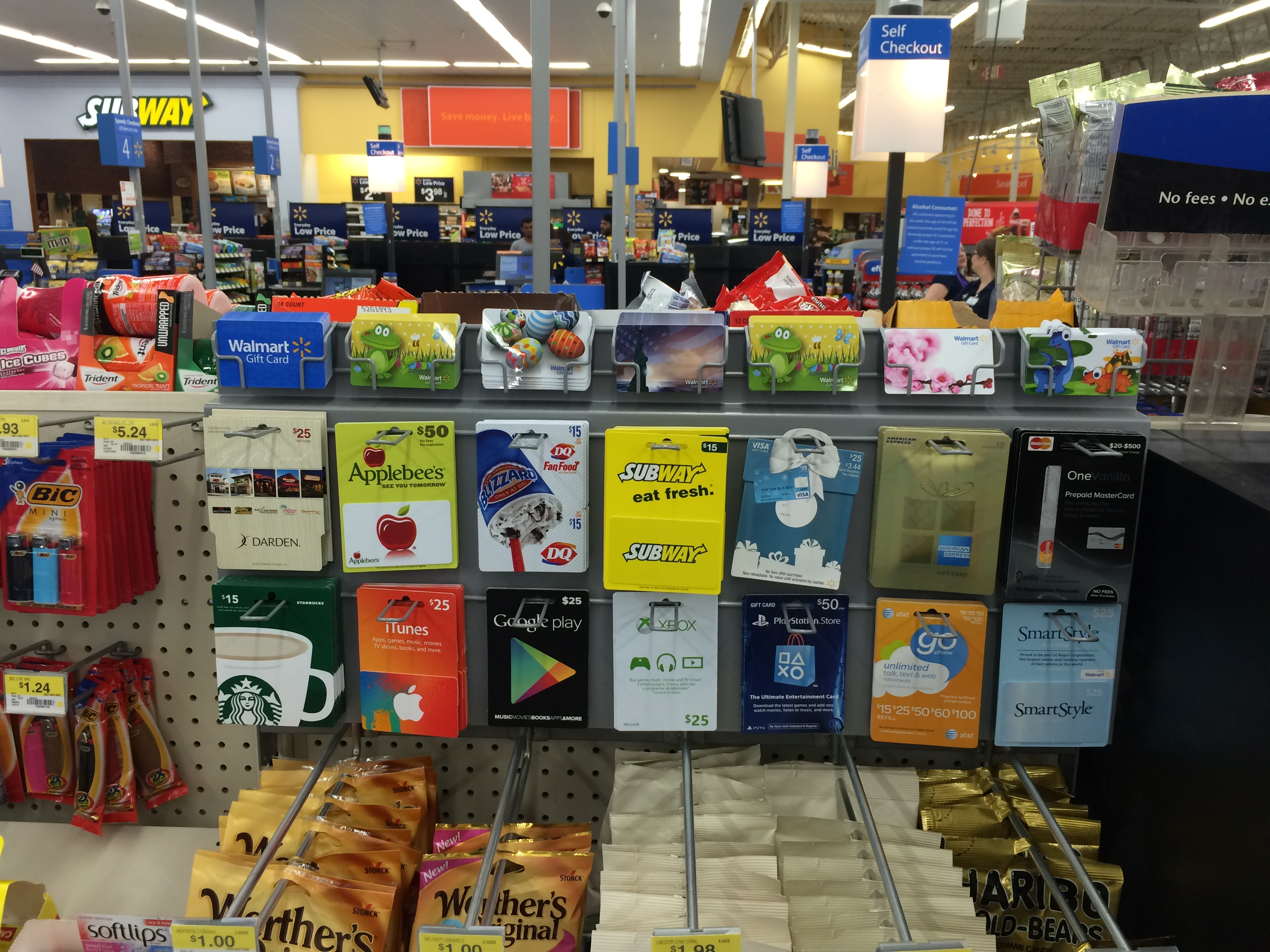 Walmart Gift Card Checkout Display Polymth Product Leadership